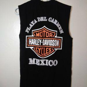 Harley Davidson sleeveless shirt, playa del Mexico